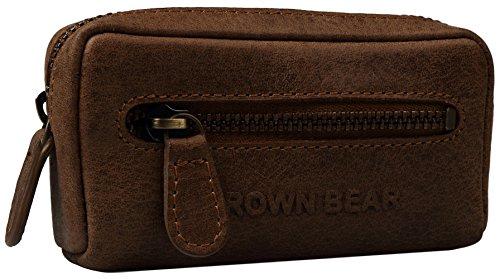 Preisvergleich Produktbild Brown Bear Schlüsseletui Leder braun vintage Reißverschluss 8018 hbr