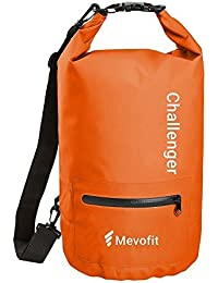 MevoFit (USA) CHALLENGER GYM TRAVELLER - 'Dry Sack' Tote Bag : GYM | TRAVEL | SPORTS | OUTDOOR for Men & Women - POLYPROPYLENE WATER PROOF with Dry Pocket for Mobile & Accessories - Dry Rugged Bag Lustrous by MevoFit (USA)