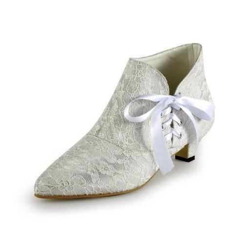 zschaft Schlupfstiefel , Elfenbein - Elfenbein - Größe: 40 (Girls Elfenbein Satin Schuhe)