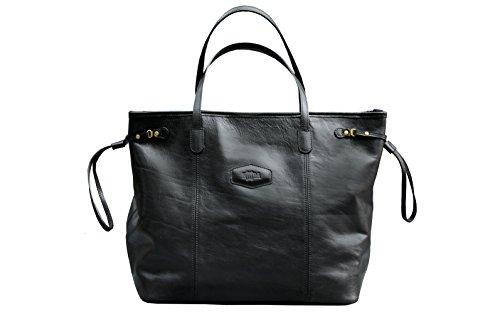 Noda  1311, Damen Tote-Tasche Schwarz schwarz (Handtasche Bag Purse Tote Handmade)
