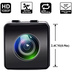 Mini Cámara Hawkeye Firefly HD 1080P FPV Micro Cámara de acción Mini cámara Oculta Spy con DVR FOV160 ° Micrófono Incorporado para RC Drone