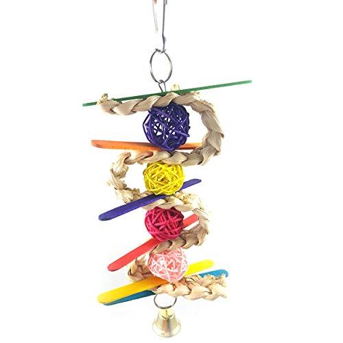 UEETEK Juguetes masticar de aves loro Divertidos coloridos Juguetes para para loros / pericos / guacamayos / periquitos