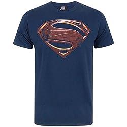 Justice League Superman Logo Men's T-Shirt (L)