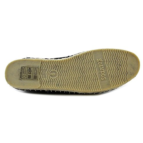 Soludos Lace Up Toile Espadrille Solid Black
