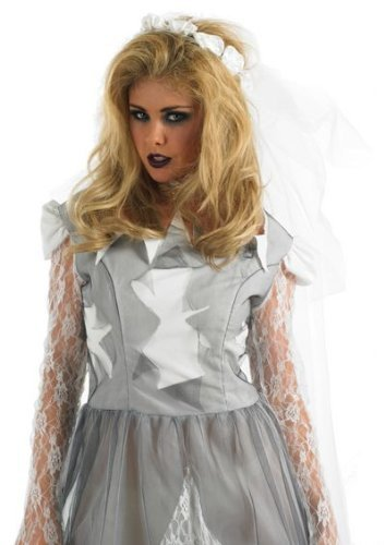 Grey Corpse Bride - Adult Costume Lady: L (UK 16-18) by Fun Shack