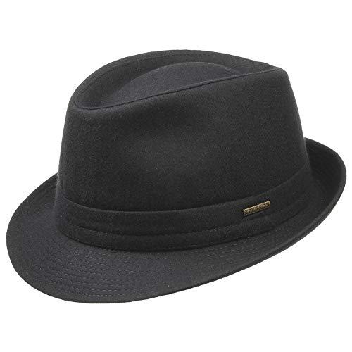 eeb8d227a9dc Stetson Trilby de Lana Benavides Mujer/Hombre | Made in Italy Sombrero Moda  Hombre con Forro, Forro otoño/Invierno | 63 cm Negro