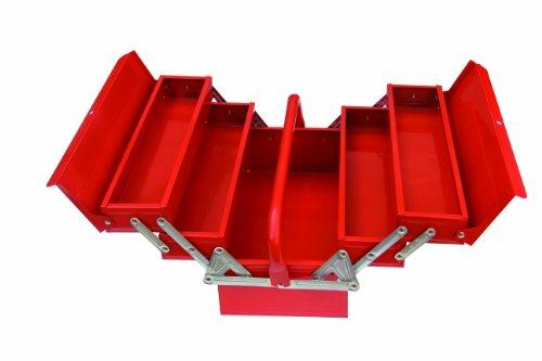 Domus CPM05 Werkzeugkiste aus Metall, mit 5 Fächern, Rot