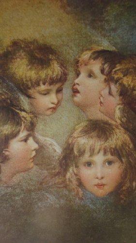 """HaWeKa Karte neutral mit Kunst-Druck """"Teste di angel"""" von Reynolds Nr. 226"""