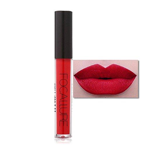 Vovotrade FOCALLURE Neue Partei-Frauen-Art- und Weiselippenstift-Kosmetik-Lippenmatten-Lipgloss_A (Lila Lippenstift Mac)