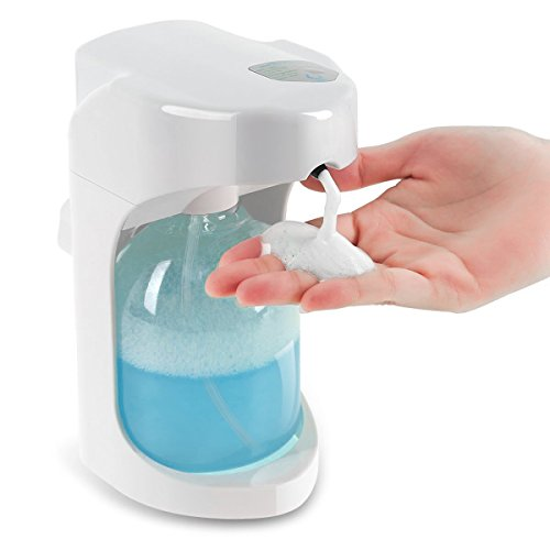 Automatic Soap Dispenser, Lanktoo Wall Mounted Foaming Soap Dispenser Touchless for Bathroom & Kitchen, 500ML  Capacity, Adjustable Foam Control, Wall Mounted/On Countertop.