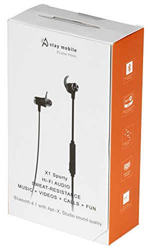 stay mobile PREMIUM Bluetooth Kopfhörer mit Mikrofon und magnetischem Headset, schwarz - 8