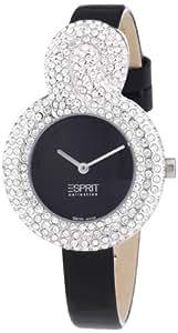 Esprit Collection - EL101182S01 - Danaé - Montre Femme - Quartz Analogique - Cadran Noir - Bracelet Cuir Noir