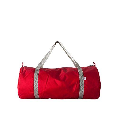 american-apparel-nylon-sport-gym-tasche-einheitsgrosse-rot-silber