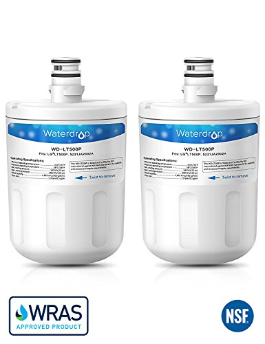 2 x Waterdrop LT500P Kühlschrank Wasserfilter Ersatz für LG LT500P, 5231JA2002A, ADQ72910901, ADQ72910902, GEN11042FR-08, GEN11042F-08 (Lt500p 5231ja2002a)