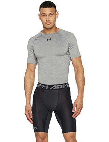 Under Armour Herren HG Armour 2.0 Long Shorts Kurze Hose, Black, XL (Kurz Heatgear Lang Kompression)