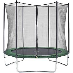 CZON Sports-trampoline exterieur enfant | Filet De Securite|Trampoline De Jardin|250 cm-Vert
