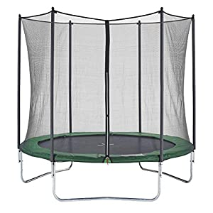 CZON SPORTS trampolino, 250 cm tappeto elastico con rete di sicurezza, verde|trampolino elastico da giardino|trampolino bambini 1 spesavip