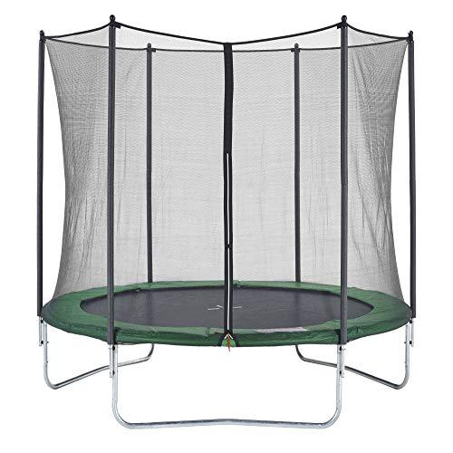 CZON SPORTS Gartentrampolin Ø250 cm mit Sicherheitsnetz, grün|trampolin|trampolin outdoor