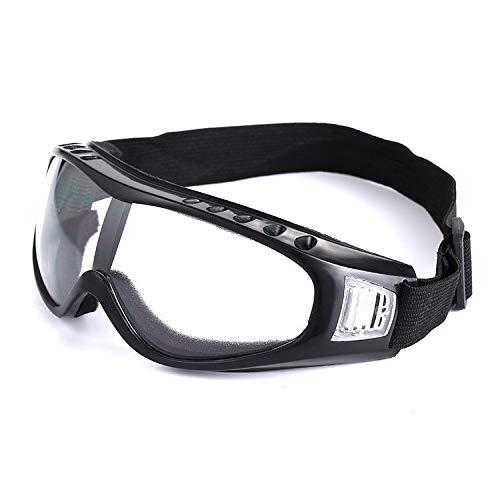 Easy Go Shopping Outdoor Sports Ski Snowboardbrillen, Anti Fog, UV400 Schutz, Belüftete Ski- und Snowboardbrillen, Komfortabel, Sonnenbrillen und Flacher Spiegel (Farbe : Transparent Lenses)