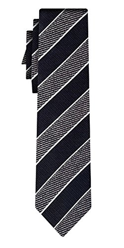 BOSS Seidenkrawatte BOSS wide stripe black
