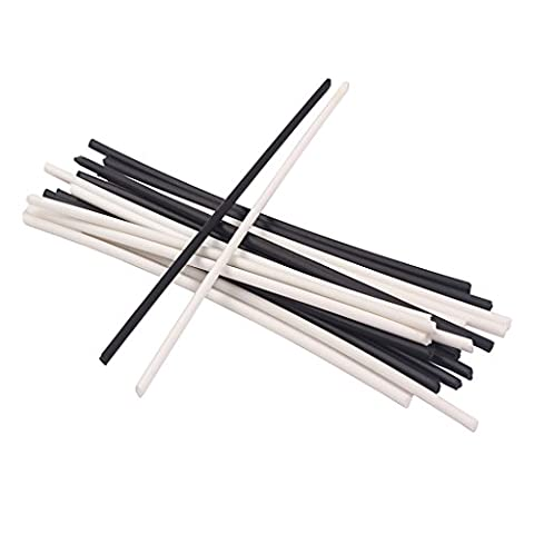 Sharplace ABS Plastic Guitar Neck Side Dots Sticks for Bass Electric Guitar Accs 2mm Black&White Pack of 20