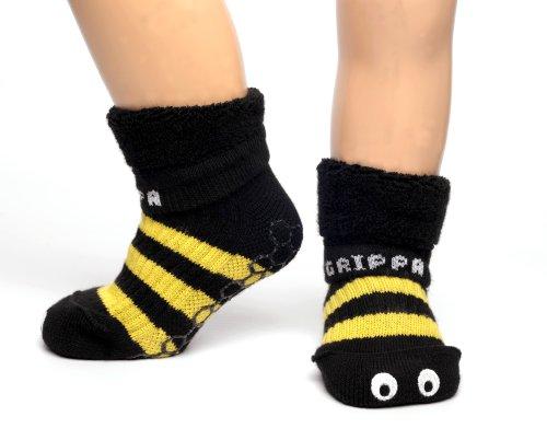 GRIPPA SOCKS Calzini antiscivolo un disegno calabrone. Approvati dal College of Podiatry - esperti nella salute del piede nel Regno Unito