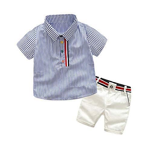 Baby Boy Polo Shirt Top Striped und Kurze Hose Little Kid Kleidung Set für Alter 1-6 Jahre - 1 Jahr Alter Baby Junge Kostüm