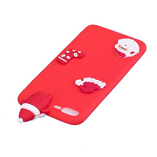 iPhone 7 Hülle, Iphone 7 Hülle Silikon, 7 Hülle Case, SpiritSun Handyhülle Iphone7/8 plus Etui Protective Case Cover TPU Silikon Softcae Fall Backcover Case Handy Schutzhülle Slimcase Motiv Weihnachte Rote Weihnachten