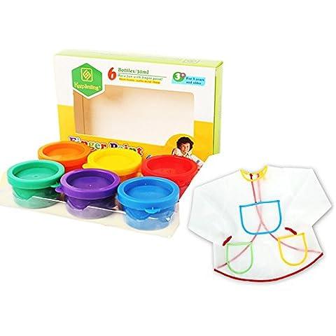onecreation Paint Set–6colori atossici lavabile bambini dito Vernici (6) e anti-incrostazioni
