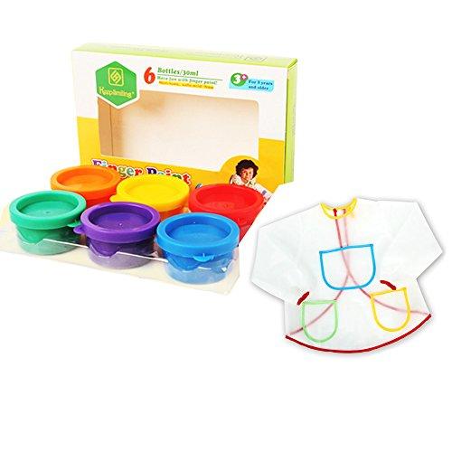 onecreation-paint-set-6-colori-atossici-lavabile-bambini-dito-vernici-6-e-anti-incrostazioni-smock
