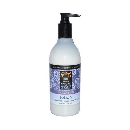One With Nature Lotion revitalisante pour les mains et le corps - A la lavande - Sels minéraux de la Mer morte et beurre de karité hydratant - 360 ml