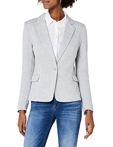 VERO MODA Damen Anzugjacke VMJULIA LS Blazer DNM NOOS Grau Light Grey Melange, 40