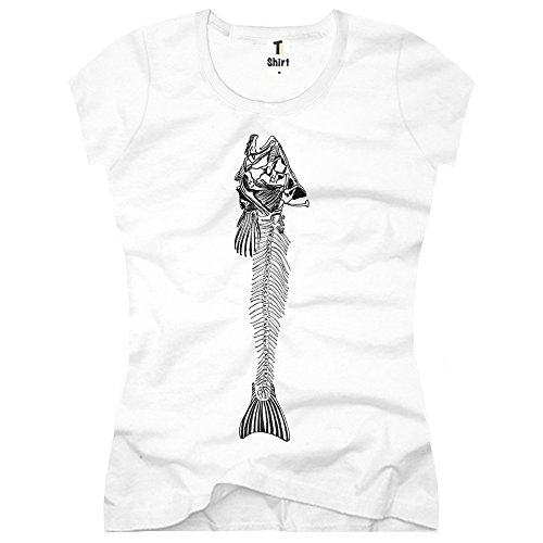 TEE-Shirt, Women T-Shirt Fish Weiß