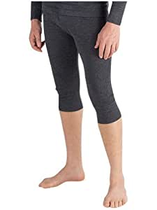 Mens Thermal Underwear 3/4 Length Long Johns Large Charcoal