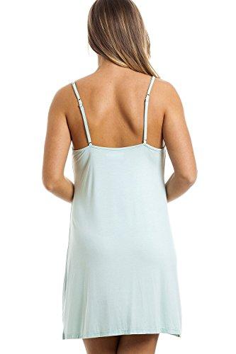 Chemise de nuit - bretelles fines/longueur genou - couleur vert menthe Vert