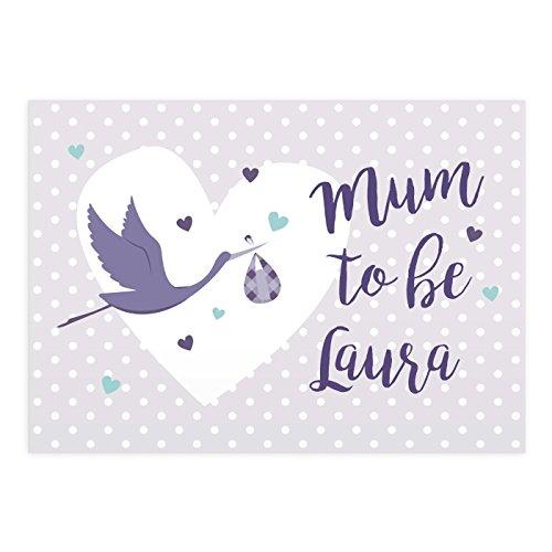 personnalisé Maman pour être Mère carte de fête à partir de la bosse