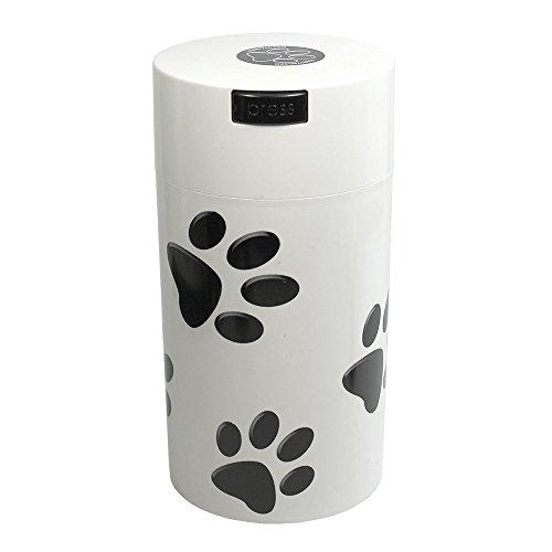 Tightpac America, Inc. pawvac 12oz envase Sellado al vacío contenedor de Almacenamiento de Comida para Mascotas; Color Blanco Tapa de plástico y Cuerpo/Negro Patas