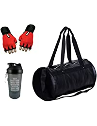Hyper Adam AN-321 Premium Look Stylish Gym Bag, Protein Shaker And Gym Glove With Wrist Support Combo