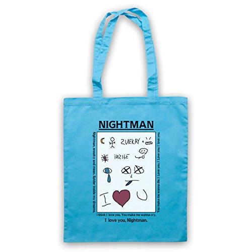 Inspiriert durch It's Always Sunny In Philadelphia Nightman Note Lyrics Inoffiziell Umhangetaschen Hellblau