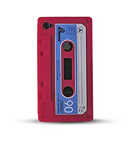 Housse Silicone pour iPod Touch 4 - Façon Cassette Audio - Rouge