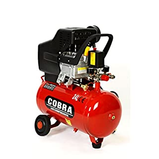 POWER HOUSE COBRA AIR TOOLS 25L LITER AIR COMPRESSOR 9.5 CFM 2.5HP WITH FREE 5 PCS KIT(PAINT SPRAY GUN, PARAFFIN GUN, TYRE INFLATER, BLOW GUN AND HOSE) 8 BAR POWERFUL, 2 X FREE 1/4