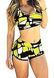 M5 - Costume da Bagno - Due Pezzi - Bikini - Adatto a Adulti Donna & Ragazza - Moda Mare (Taglia M)