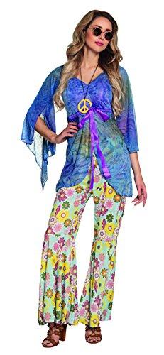 Boland 83523 - Erwachsenenkostüm Flower Woman mit Hose, Shirt und Halskette, Größe 40 / ()