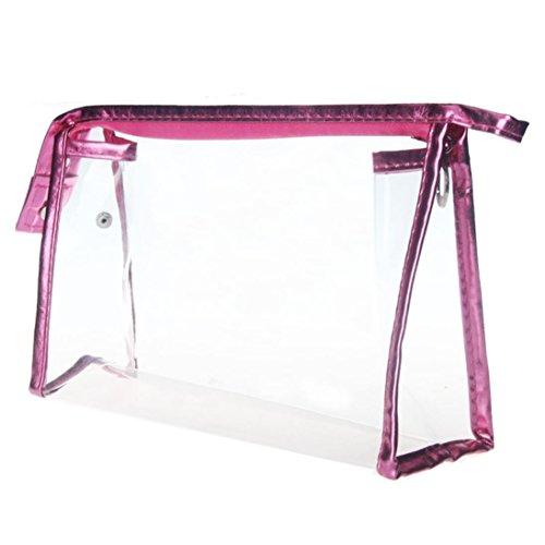 Kosmetiktasche Kolylong® Transparent Wasserdichte Makeup Bag Pink (Großhandel Fashion Womens Tops)