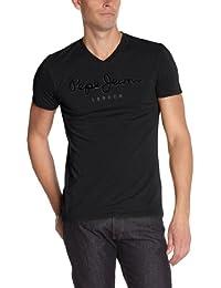Pepe Jeans - Original Stretch V Flock - T-Shirt - Homme