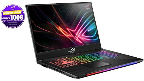 "Asus ROG SCAR2-GL704GM-EV009T PC Portable Gamer 17"" (écran 144Htz 3ms, Intel Core i7, RAM 16 Go, 1 to + SSD 256 Go, Nvidia GTX 1060 6 Go, Windows 10) Clavier AZERTY Français"