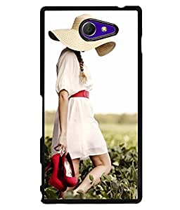 PrintVisa Metal Printed Girly Designer Back Case Cover for Sony Xperia M2/ M2 Dual-D5022
