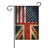YATELI Double Sided Vintage American Union Jack Friendship Combination A Memorial Day Polyester Garden Flag Banner 12x18 Inch for Outdoor Home Garden Decor