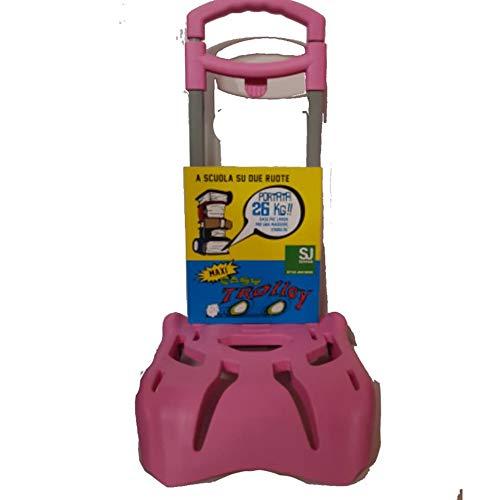 Seven Carrello Porta Zaino, Colore Rosa, kg 25