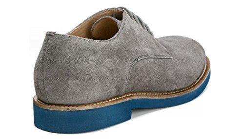 FRAU 35C1 blu scarpe uomo eleganti casual lacci camoscio Grigio/Blu